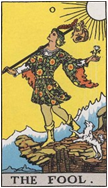 愚者 THE FOOLのカードの意味と詳細